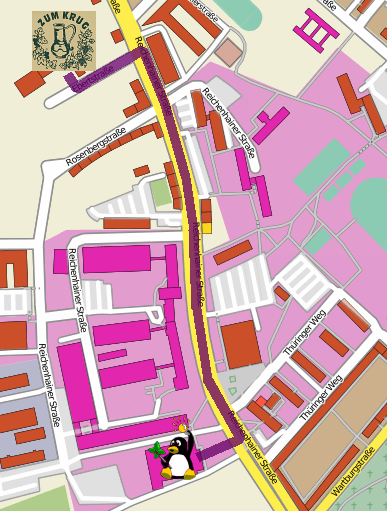 Karte, (c) OpenStreetMap and Contributors, CC-BY-SA 2.0